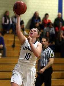 Chatham senior Cassandra Falone scored her 1,000th career point against Morristown-Beard on Jan. 16. (Staff photo by Bob Karp/Daily Record)