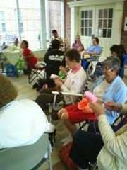The Gates Avenue Knitters have held Knitting in Public