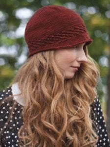 This is the photo of Folly Cloche in Laura Nelkin's book, Knockout Knits, published by Potter Craft.