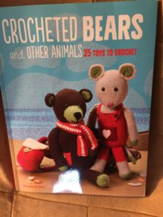 """Crocheted bears ad other animals"" has adorable stuffed animals from the crochet hook of Emma Brown, a British designer."