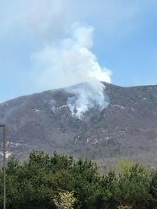 The Dobson Fire was 550 acres and 10 percent contained by April 12.