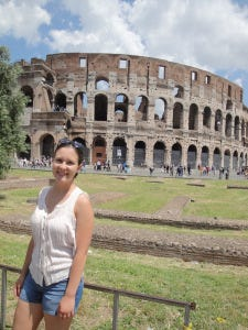 """""""I visited as many famous monuments as I could — the Colosseum, the Vatican, the sites the tourists visit. And I did it proudly."""""""