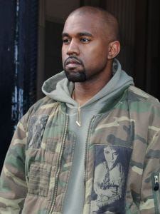Kanye West at the Dries van Noten's fashion show in Paris on March 4.