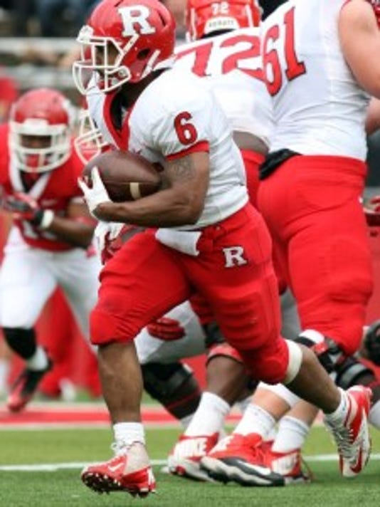 Rutgers halfback Desmon Peoples rushed for 85 yards and two touchdowns on 18 carries in the Scarlet-White Game. (MyCentralJersey.com file photo)