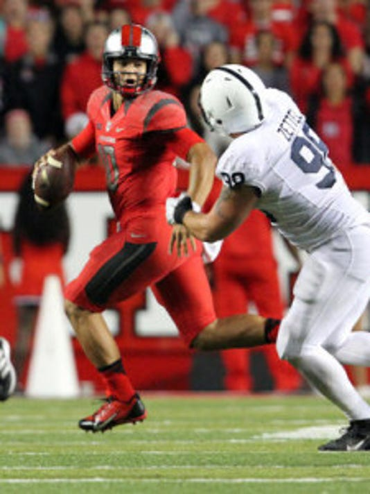 Rutgers QB Gary Nova, who injured his knee against Nebraska, is listed as probable against Indiana. (File photo)