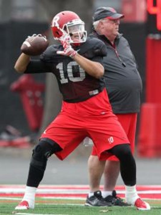 Rutgers quarterback Gary Nova has thrived as a senior under the watch of offensive coordinator Ralph Friedgen.(Photo: Mark R. Sullivan/Staff Photographer)