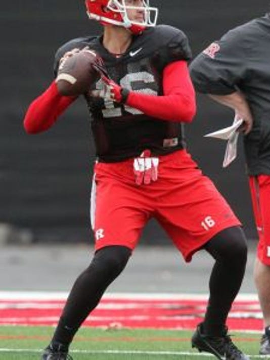 Mike Bimonte, a redshirt junior quarterback, will transfer out of Rutgers for his final year of eligibility.(Photo: FILE PHOTO)