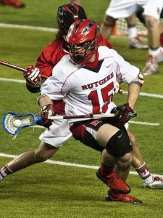 Rutgers senior midfielder Joseph Nardella excels on face-offs and was named a Preseason All-American. (Photo: Duncan Williams/Courtesy of Rutgers athletics communications)