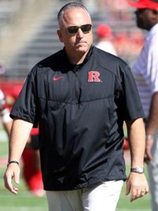 Rutgers coach Kyle Flood has seen three players transfer since the season ended, the latest of whom is fullback Jacob Kraut.(Photo: Mark R. Sullivan/Gannett)