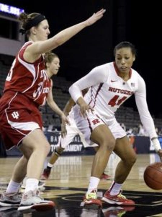 Rutgers forward Betnijah Laney finished with 12 points and 15 rebounds in a win against Indiana.(Photo: AP)