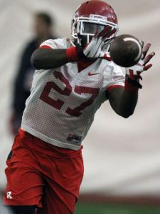 Rutgers free safety Delon Stephenson is emerging as the voice of the secondary during spring camp.(Photo: Mark R. Sullivan/Staff Photographer)