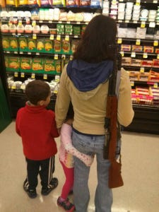The group Moms Demand Action wants Kroger to take a stand against guns.