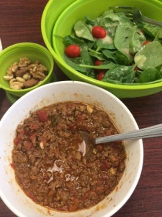 Roasted pepper and beef chili