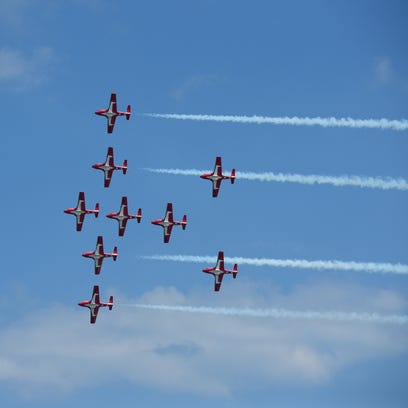 The Royal Canadian Air Force Snowbirds performed in