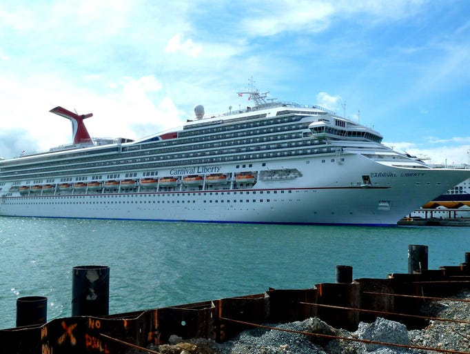 """The 110,000-gross-ton, 2,974-guest Carnival Liberty was the first of Carnival Cruise Lines' 24 ships to feature """"Fun Ship 2.0"""" enhancements, which were added during a two-week dry dock in October 2011."""