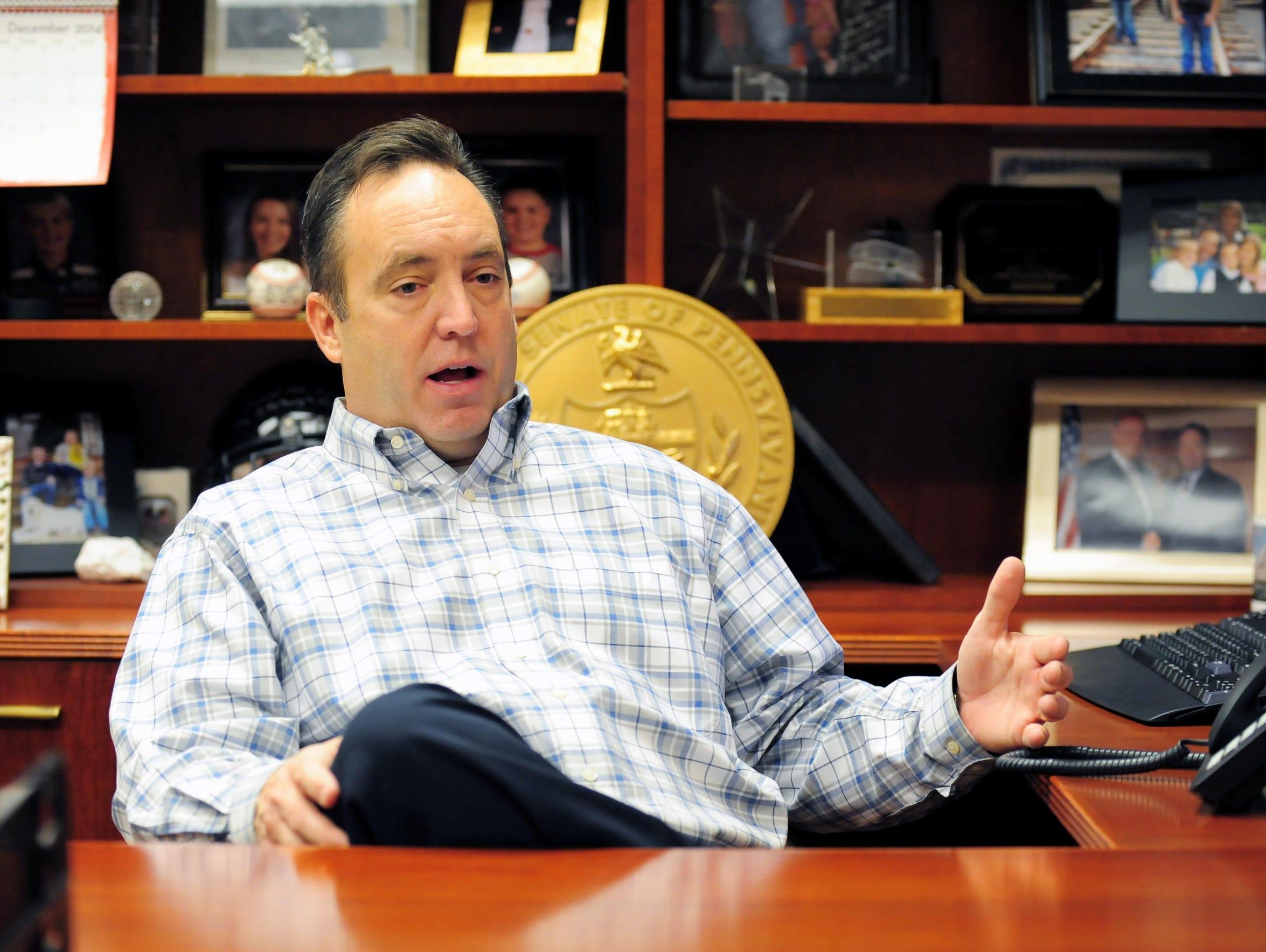Pennsylvania state Senator Jake Corman is  challenging