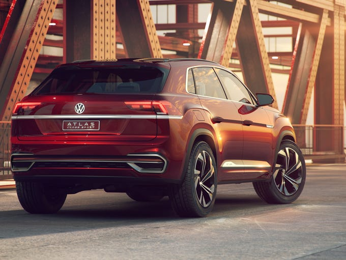 The Volkswagen Atlas Cross Sport concept crossover,