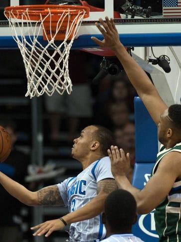 Orlando Magic point guard Shabazz Napier (13) shoots