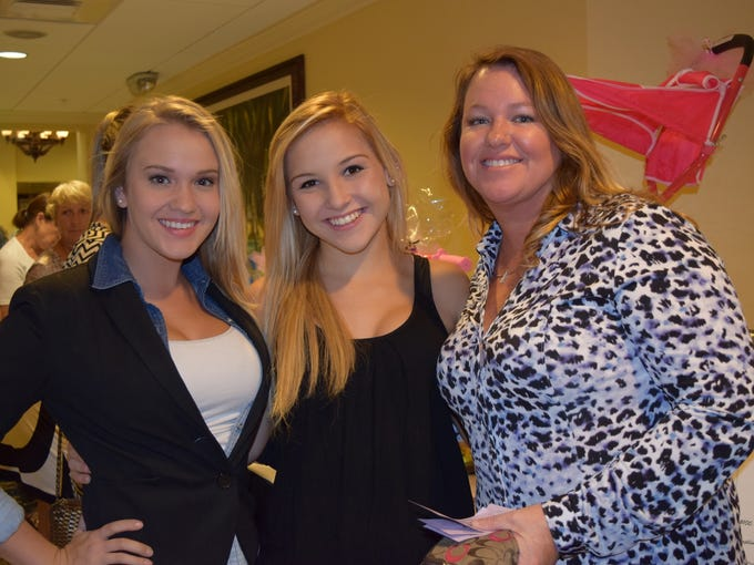 Morgan Simmons, Haley Gilewski, Donna Simmons at Designer Purse Bingo held Wednesday at The Landings Yacht, Golf & Tennis Club. This event benefits the Regional Cancer Center. All proceeds went to help support patients who have no health insurance or are under insured in Lee County