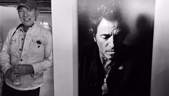 Bruce Springsteen at the Danny Clinch Transparent Gallery in Asbury Park.