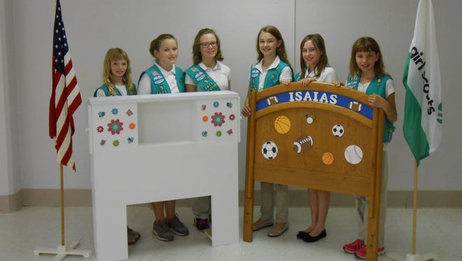Members of Girl Scout Troop 2023 are (from left) Alexa Miles, Elizabeth Heimerl, Sara Smith, Kaitlyn Powers, Carrie Schwartz and Abigail Trelka.