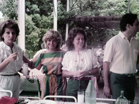 Valerie Reptsik Loutfi - second from the right and mother of pianist Nada Loutfi - with friends in a picture taken just a few days before she was killed by a mortar in 1986 during the Lebanese Civil War.