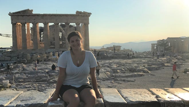 Francesca Hadden, sophomore anthropology student, took a trip to Athens for the last two days of her education abroad program in Corfu, Greece and climbed The Acropolis.