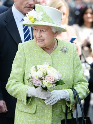 Queen Elizabeth II meets the public on her 90th Birthday walkabout on April 21.