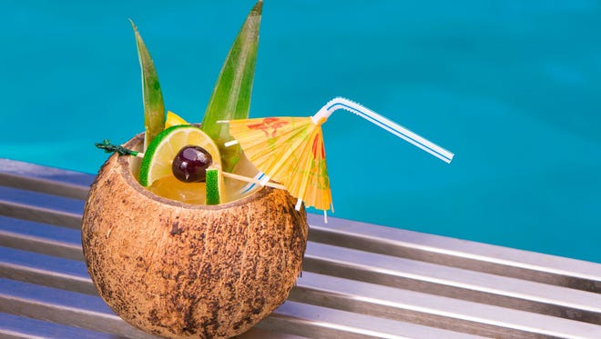 The Lime in the Coconut cocktail at the Clarendon Hotel is the perfect poolside drink.