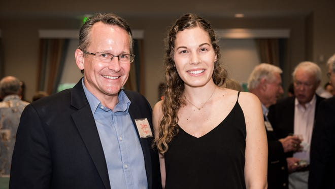 John Engle ( Haiti Partners co-director) with Noemi Frankel at the Haiti Partners Benefit on March 3 at Northern Trust Bank, Vero Beach