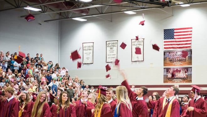 The 2017 Eagleville High School graduation.