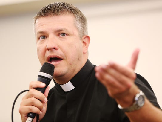 Father Tim Holeda speaks about life and faith at Faith,