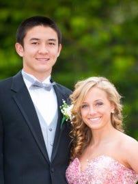 High School Senior Prom Couple