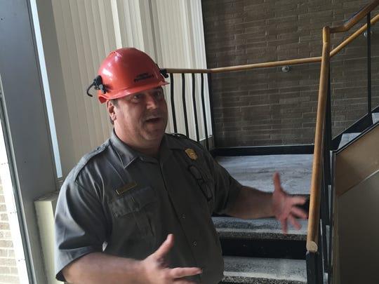 Park Superintendent Brian McCutchen explains that the