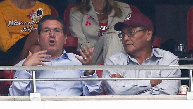 Dan Snyder sat with Ben Shelly at the Cardinals game.