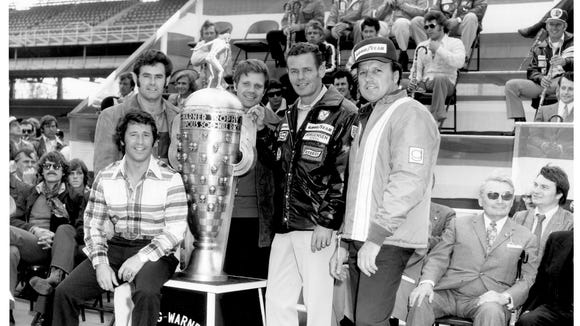 Photo of Indianapolis 500 winners was taken during the weekend of the 1973 race.