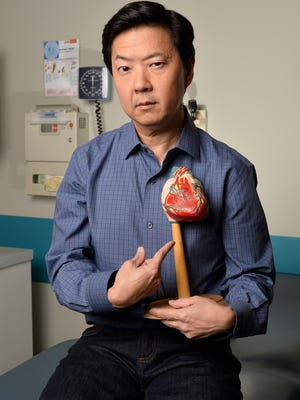 Ken Jeong plays around on the set of his new ABC sitcom 'Dr. Ken.'