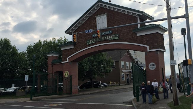 The Union Street entrance at the Rochester Public Market.