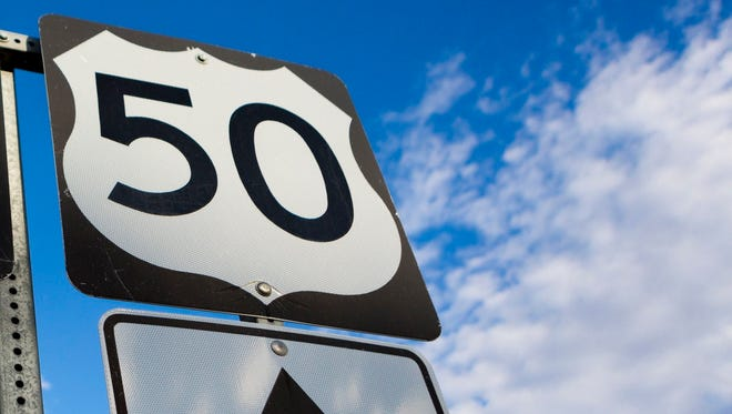 Route 50 sign