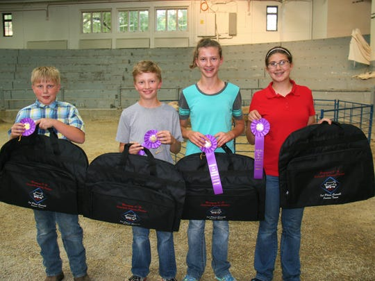 Winning first place in the junior division was Grant County. From left, Brendan Jentz, Luke Patterson, Jessica Patterson and Avery Crooks.
