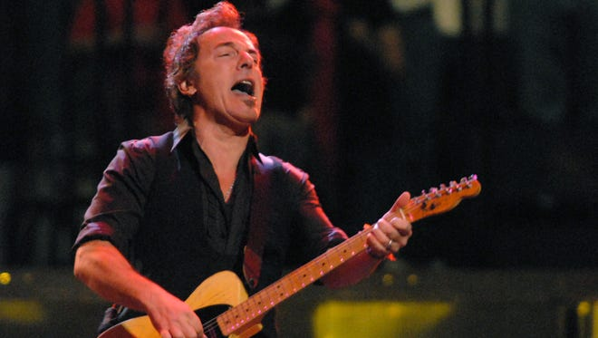 Bruce Springsteen at a show in Rochester in 2008.
