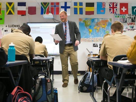 Greg Caskey, an economics teacher at Delaware Military