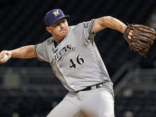 Brewers closer Corey Knebel has 122 strikeouts in 74 innings this season.