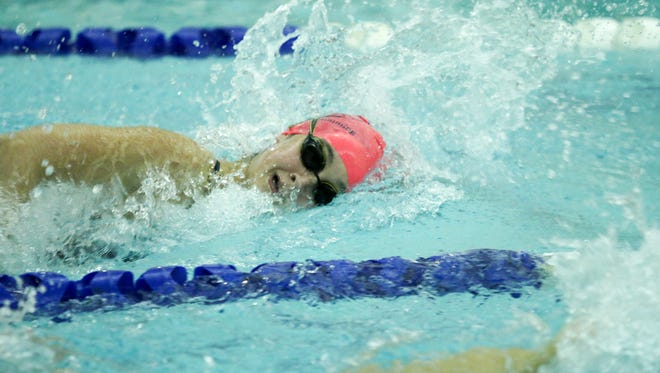 In her first meet with Lebanon Valley, freshman Erica Wise broke two school records in the 50 and 100 freestyles.