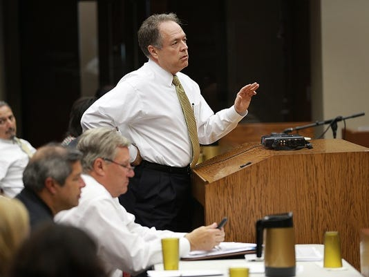 University Medical Center CEO Jim Valenti addressed commissioners court Tuesday.