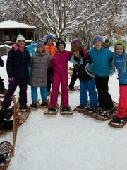 St. Margaret Mary: The fifth-grade class went snowshoeing at Ledgeview. It was a beautiful day and the students and parents who joined on the trip had a very enjoyable time. They are looking forward to a morning of cross country skiing, more ski club dates and then a possible weekend ski trip. Fifth-graders Maddie Okrie, Lily Hansen, Alex Sherwood, Gabby Ruback, Julie Zimmerman, Anna Auth and Payton Blaylock enjoy snowshoeing at Ledgeview.