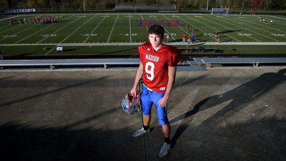 Madison junior quarterback Clark Gray is back on the