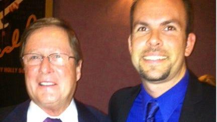 Deputy Mayor Stephen McIntosh and Estero High School Assistant Principal Jeff Estes.