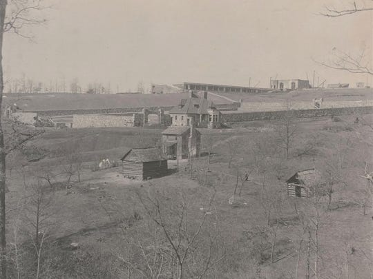 This photo shows the farm of Catherine Wright, a widow.