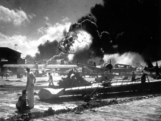 In this Dec. 7, 1941, file photo provided by the U.S.